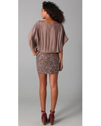 Parker - Pink Cluster Beaded Dress - Lyst