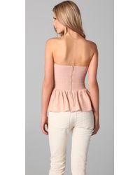 Parker - Pink Strapless Bustier Top - Lyst
