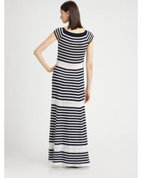 Philosophy | Blue Cotton Boatneck Maxi Dress | Lyst