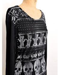 Simeon Farrar - Long Sleeved Black Knit T Shirt Dress By - Lyst