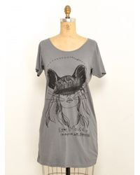Simeon Farrar | Gray Kate Mouse Grey T Shirt Dress By | Lyst