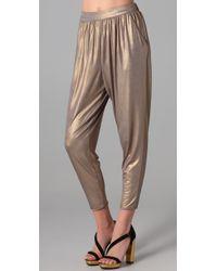 Tibi | Metallic Jersey Easy Pant | Lyst