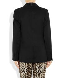 By Malene Birger | Black Azemina Crepe and Satin Tuxedo Jacket | Lyst