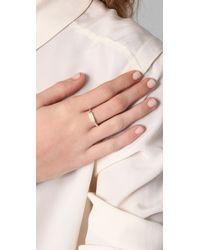 Elizabeth and James | Metallic Nile White Topaz Stacking Ring | Lyst