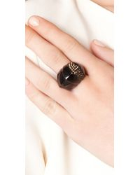 Giles & Brother - Black Nara Lacquer Pave Ring - Lyst