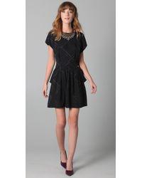 Juicy Couture | Black Bowie Jacquard Dress | Lyst