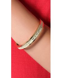 Marc By Marc Jacobs - Natural Classic Marc Logo Bangle - Lyst
