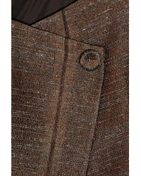 Pringle of Scotland - Brown Textured Satin-twill Jacket - Lyst