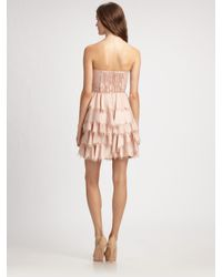 Rebecca Taylor - Natural Eyelash Bustier Dress - Lyst