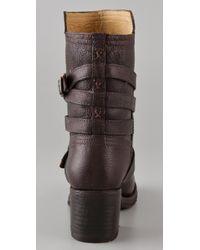 Frye | Brown Vera Strappy Boots | Lyst