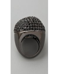 Juicy Couture - Black Hard Core Couture Owl Ring - Lyst