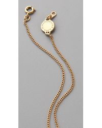 Marc By Marc Jacobs | Metallic Mini Charm Tiny Bow Pendant Necklace | Lyst