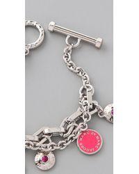 Marc By Marc Jacobs - Pink Classic Marc Charm Bracelet - Lyst