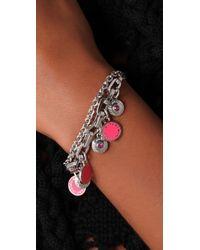 Marc By Marc Jacobs | Pink Classic Marc Charm Bracelet | Lyst