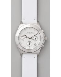 Marc By Marc Jacobs - White Blade Chrono Watch - Lyst