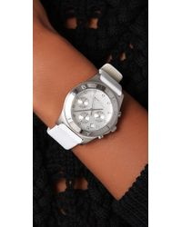 Marc By Marc Jacobs | White Blade Chrono Watch | Lyst