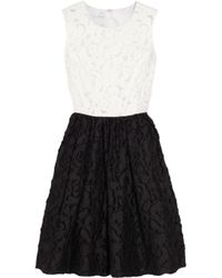 Oscar de la Renta | Black Patchwork Dress | Lyst