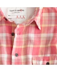 J.Crew | Red Kato` / Aaa Flannel Check Shirt for Men | Lyst