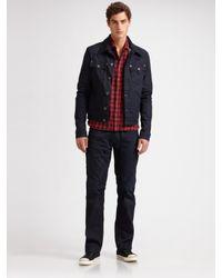 True Religion | Blue Midnight Denim Jacket for Men | Lyst