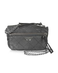 Zadig & Voltaire | Gray Black Leather Shoulder Bag | Lyst