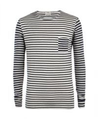 AllSaints | Blue Hayward L/s Crew for Men | Lyst