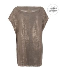 AllSaints | Metallic Daye Dress | Lyst