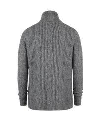 AllSaints - Gray Roulette Cardigan for Men - Lyst