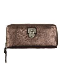 AllSaints | Bay Metallic Padlock Wallet | Lyst