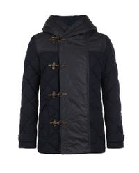 AllSaints | Blue Alaska Duffle Coat for Men | Lyst
