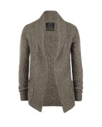 AllSaints | Brown Roulette Cardigan for Men | Lyst