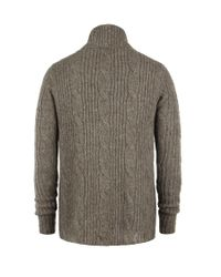 AllSaints - Brown Roulette Cardigan for Men - Lyst