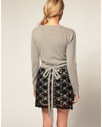 ASOS Collection - Gray Asos Ballet Wrap Cardigan - Lyst