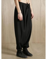 Damir Doma - Black Mens Silk Blend Trackpants for Men - Lyst