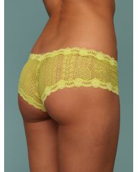 Free People - Yellow Bright Cheeky Panty - Lyst