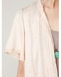 Free People | Pink Flutter Sleeve Bed Jacket | Lyst