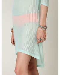 Free People | Blue Bardot Mini Dress | Lyst