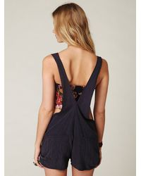 Free People | Kettle Black Overall Short | Lyst