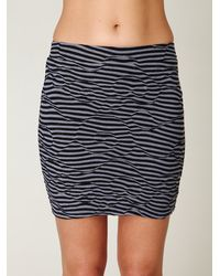 Free People | Black Striped Textured Bodycon Skirt | Lyst