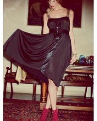 Free People | Black Fp New Romantics Twilight Details Dress | Lyst