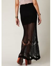 Free People | Black Fp Spun Fishtail Maxi Skirt | Lyst