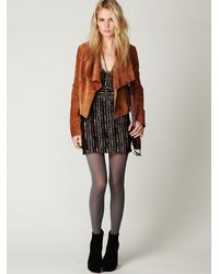 Free People | Black Gold Rush Dress | Lyst