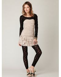 Free People | Black Lace Catsuit | Lyst