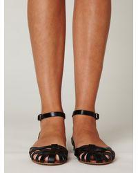 Free People | Black Lex Leather Sandal | Lyst