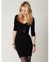 Free People | Black Swiss Dot Seamless Slip | Lyst