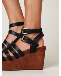 Free People - Black Turin Platform - Lyst