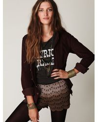 Free People - Purple Ombre Scalloped Skort - Lyst