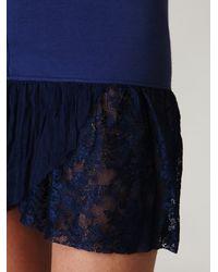 Free People - Blue Corset Ruffle Bottom Slip - Lyst