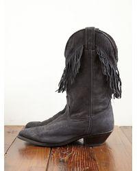Free People - Black Vintage Fringe Cowboy Boots - Lyst