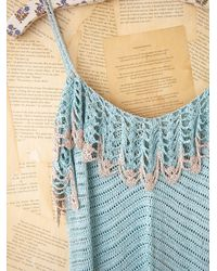 Free People | Blue Vintage Long Crochet Dress | Lyst