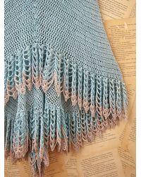 Free People - Blue Vintage Long Crochet Dress - Lyst